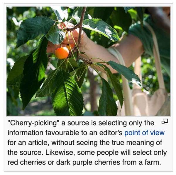 cherrypicking wikipedia entries