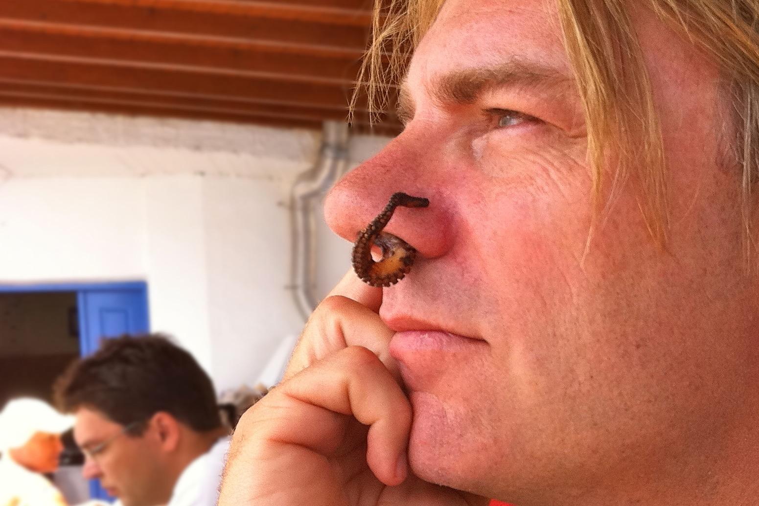 Kent Campbell in Santorini