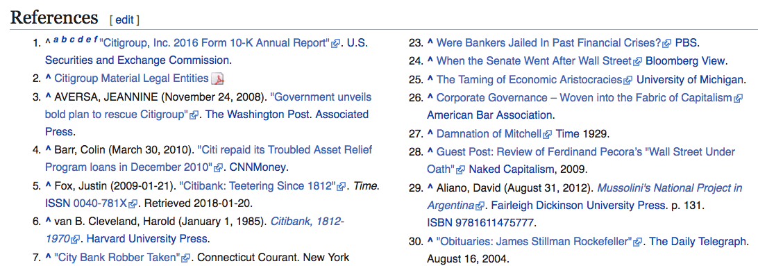 sample wikipedia references