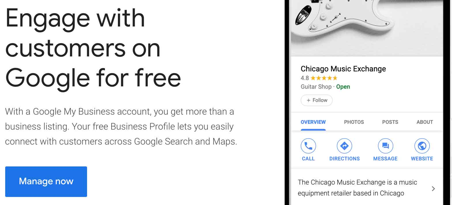 manage google my business get started
